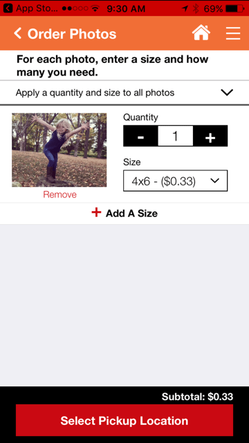 Easily order photos in the size and quantity you want with the CVS Pharmacy app.