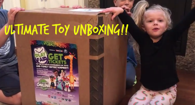 Look at how much fun she had with the Play Fair unboxing.