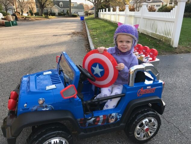 She's ready to fight the forces of evil in her Dynacraft Avengers 4x4.