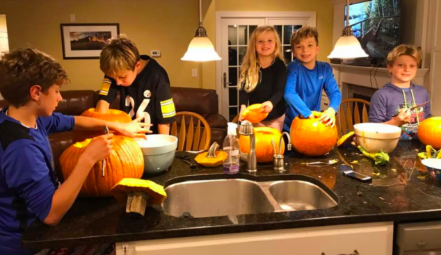 Pumpkin carving is a big deal in our house.