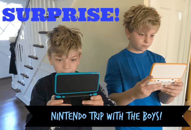 The boys couldn't wait to see Nintendo Headquarters.