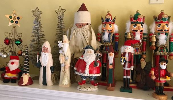 Nothing makes your home festive like Santa an Nutcracker figures.
