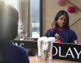 Dishing with Aja Evans About Beauty Regimens, Training and Motivation