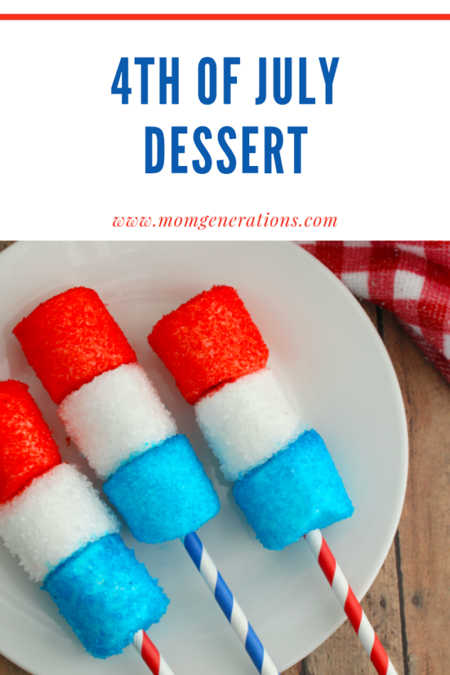 Marshmallow Pops - 4th of July Party Idea