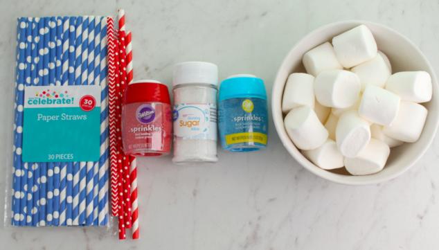 4th of July Party Idea: Firecracker Marshmallow Pops