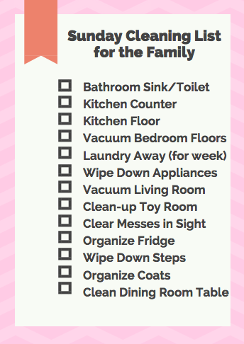 House Cleaning Routine Checklist