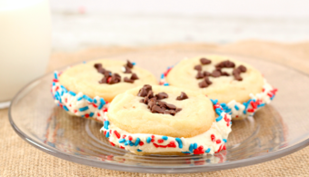 Patriotic Chocolate Chip Sugar Cookie Sandwiches