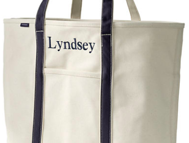 Lands' En Canvas Tote - Beach Bag for the Summer