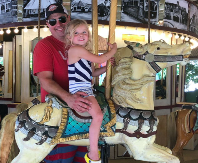 Olivia loved the carousel at Lake Compounce.