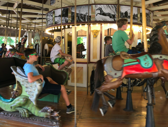 My boys enjoyed the carousel at Lake Compounce, too!