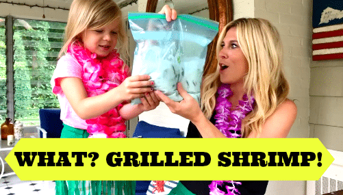 LUAU PARTY FOOD: GRILLED COCONUT SHRIMP
