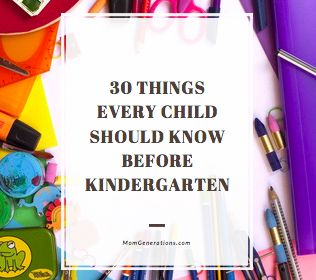 30 Things Every Child Should Know Before Kindergarten