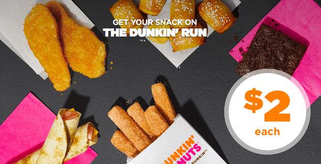 Dunkin' Run Menu