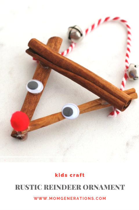Rustic Reindeer Ornament Craft for Families