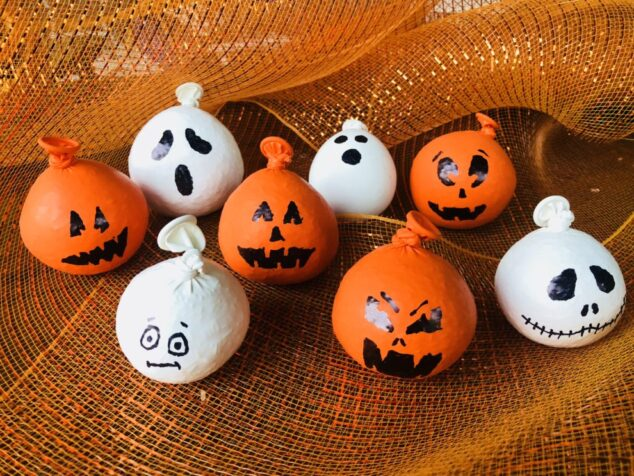DIY Halloween Pumpkin Stress Balls