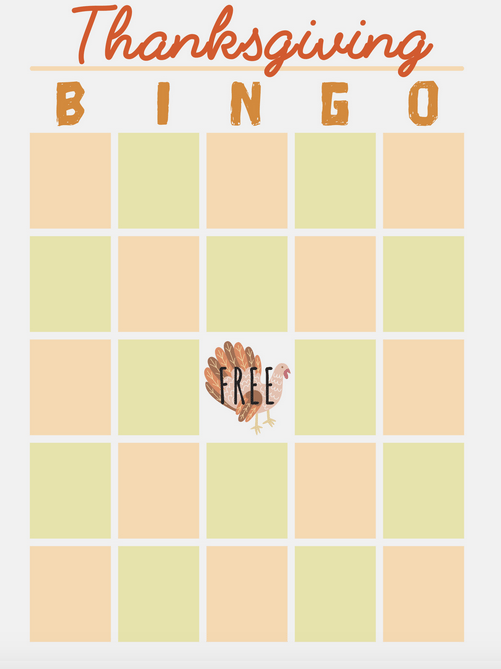 graphic relating to Thanksgiving Bingo Printable referred to as Thanksgiving BINGO Printable for the Supper Desk - Mother