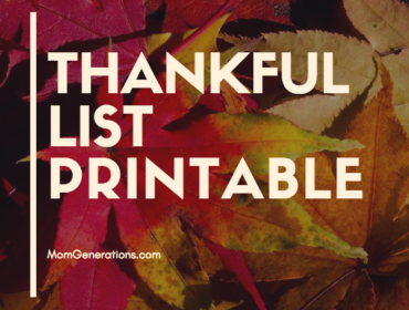 "Thankful List Printable - ""What I'm Thankful For"" Thankgiving Day Printable for Kids"