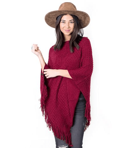 Joy Textured Poncho