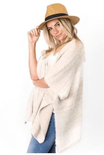 Vivian Stripe Sweater Kimono