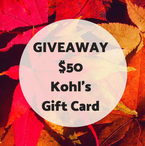 KOHL'S $50 GIFT CARD GIVEAWAY
