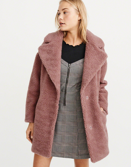 Abercrombie and Fitch Teddy Coat