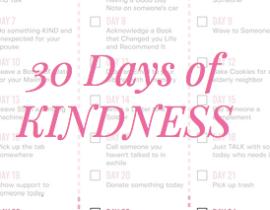30 Days of Kindness Challenge