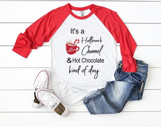 It's a Hallmark channel & hot chocolate kind of day, women shirt,women clothing,fashion shirt, unisex shirt,RED/heather grey