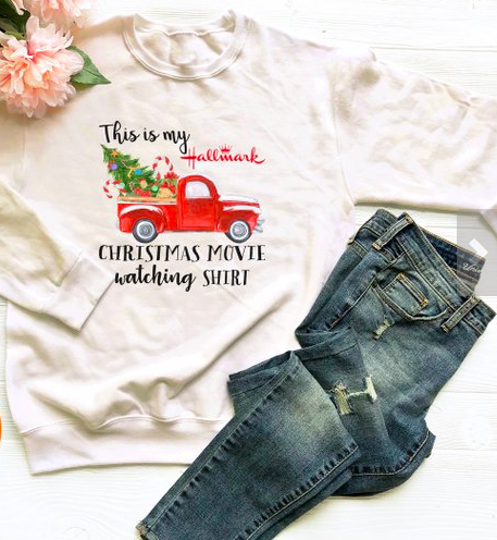This is my hallmark Christmas movie watching shirt funny Christmas gifts