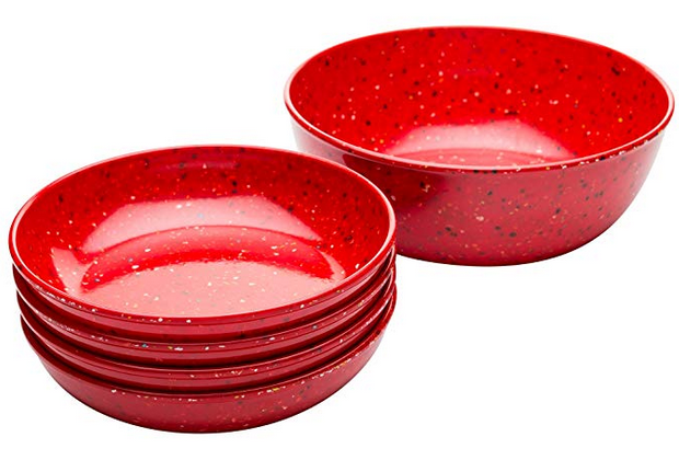 Zak Designs 0078-B100 Confetti Pasta Dish 5-piece set Red