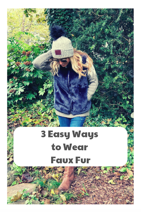 How to Wear a Faux Fur Vest