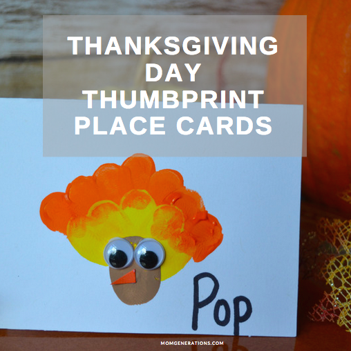 Thanksgiving Thumbprint Place Cards