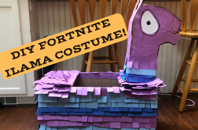 DIY Fortnite Ilama Halloween Costume