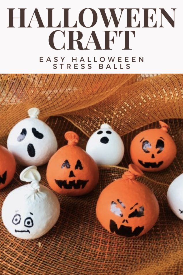 Easy Halloween DIY Craft to Do with your Kids - Stress Balls