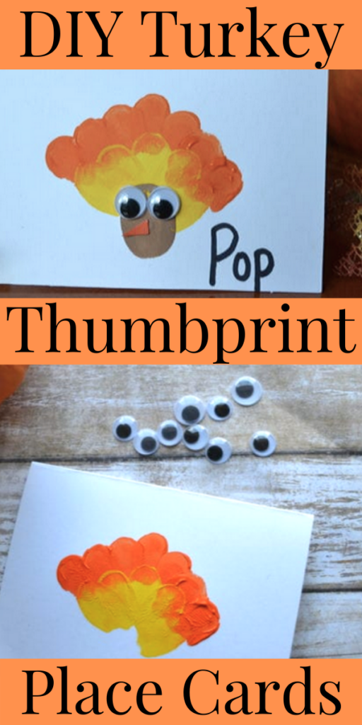 Thanksgiving Day - DIY Turkey Thumbprint Place Cards