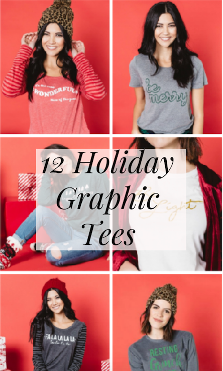 Holiday Graphic Tees for the Holiday Season - Cute Holiday Graphic Tees