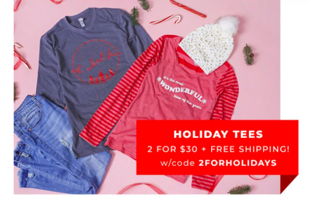 Holiday Tee Sale - Cute Holiday Tees for the Holidays