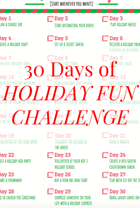 30 Days of Holiday Fun Challenge