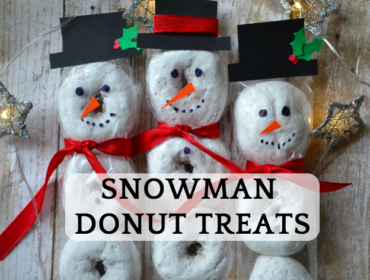 Snowmen Donut Treats