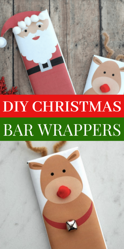 DIY Christmas Bar Wrappers