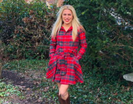 Perfect Red Plaid Dress