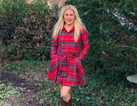 Perfect Red Plaid Dress