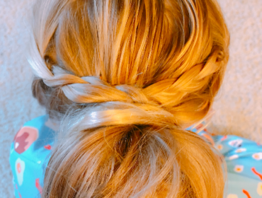 Messy Bun with Braid