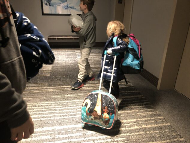 Staying in Hotels with 5 kids