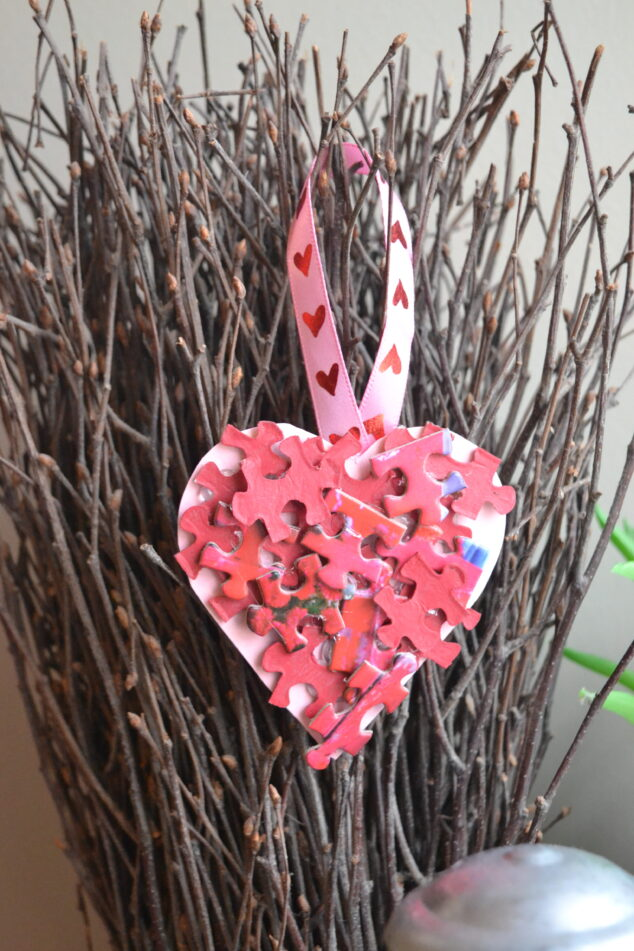 Valentine's Day Heart Puzzle Craft for Kids