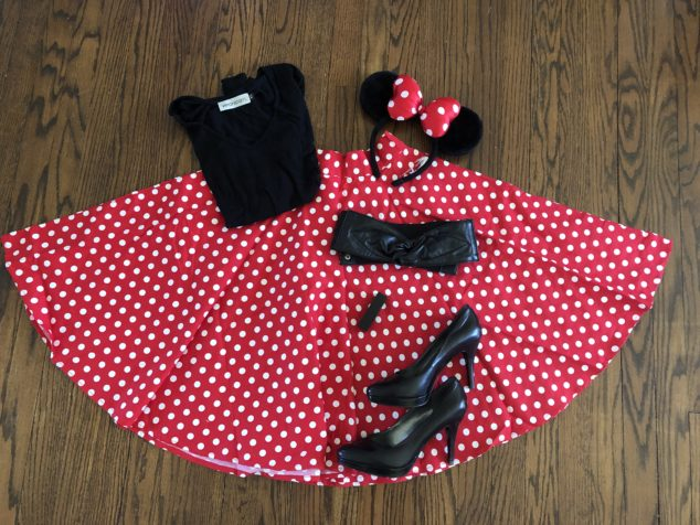 Diy Minnie Mouse Costume Mom Generations Audrey