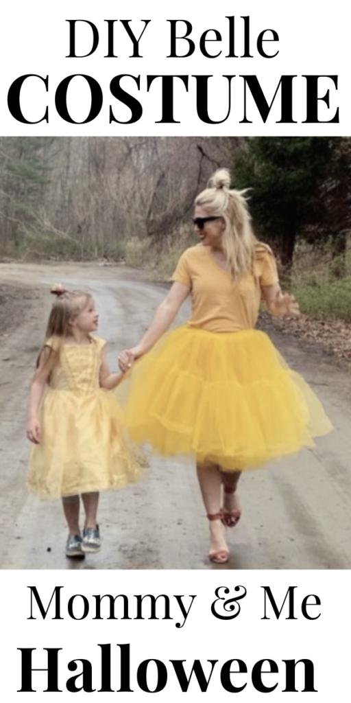 Halloween DIY Belle Costumes Mommy & Me