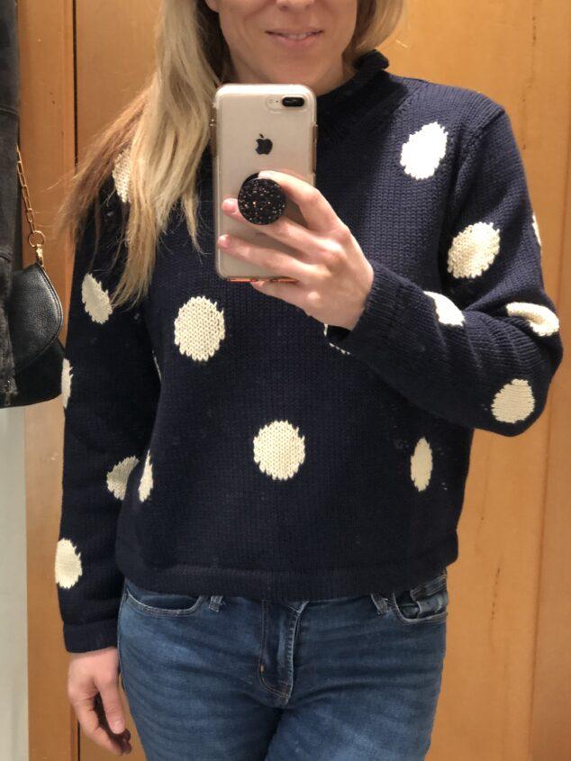 J.Crew Polka Dot Sweater