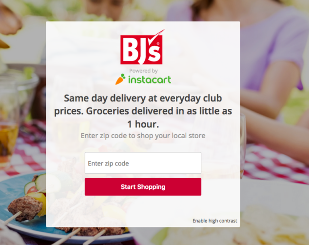 BJ's Same Day Grocery Delivery