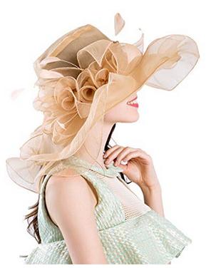 Ruffle and Organza hat