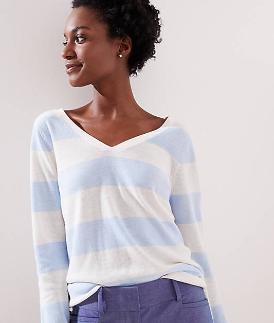 LOFT Sale Double V Sweater